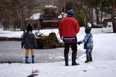 最後の雪遊び