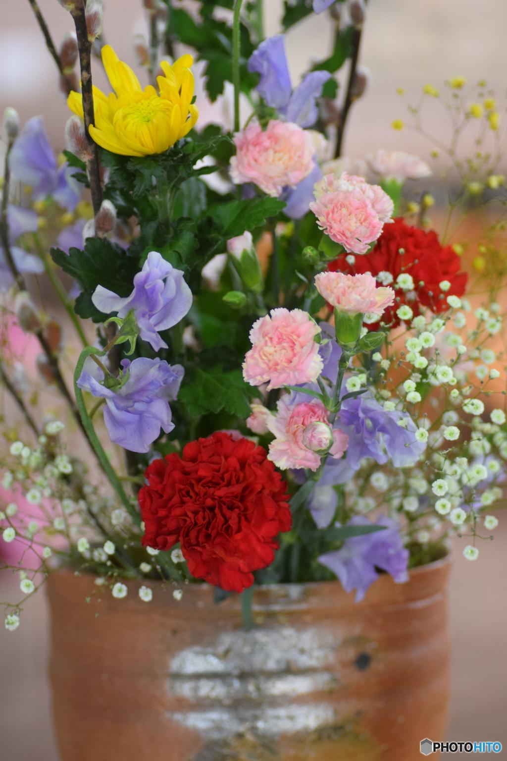 花瓶のお花