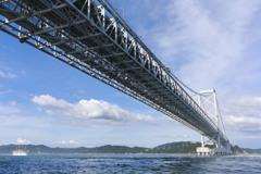 夏雲と大鳴門橋