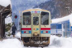 冬の若桜鉄道