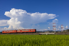 夏雲と汽車