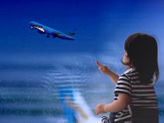 あの飛行機は何処まで行くのかなぁ〜