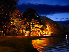 夕焼けの渚 紅葉祭り