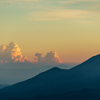 磐梯山夕景