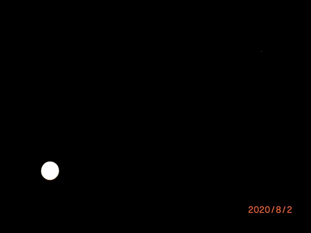 月と木星?のコラボ