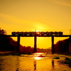 荒川橋梁の夕景