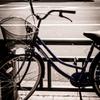 自転車とタクシー