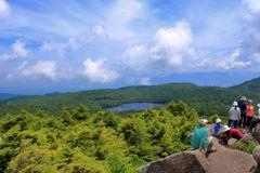 白駒池 高見石からの眺め