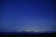 夜の北アルプス