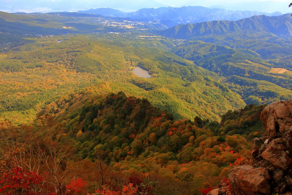 戸隠山 西窟付近からの風景