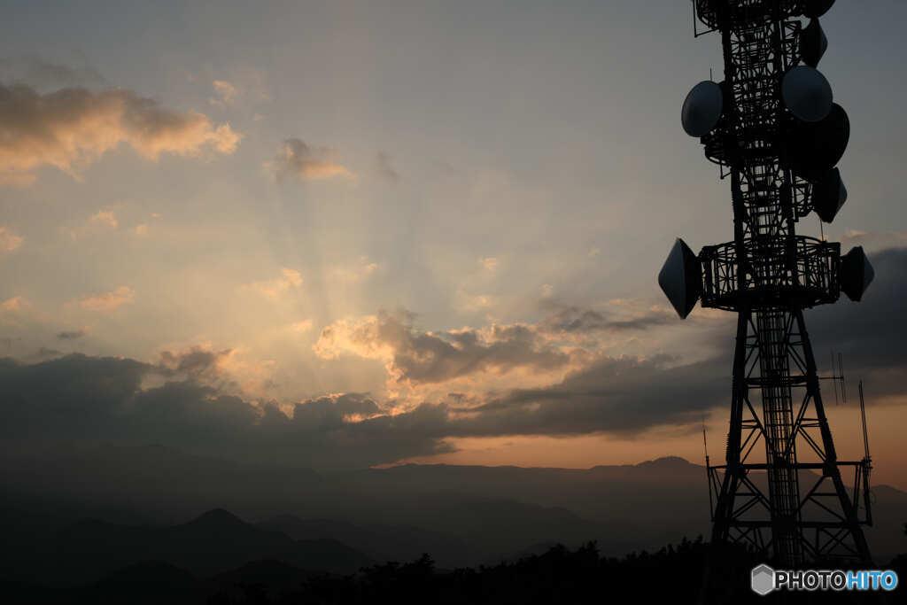 藻岩山からの夕景①