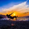夕日をボレーシュート