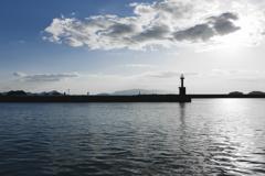 室津漁港より 【晴れの日】