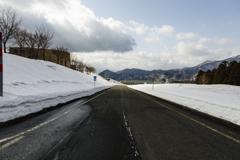 凍結はなし、除雪も完璧、でも安全運転で。