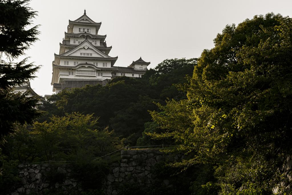ラストは姫路城の横顔
