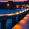 薄暮 角島大橋