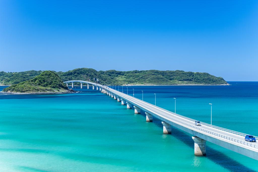晴天 角島大橋