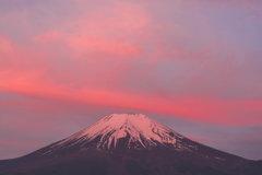 「朝焼け富士」