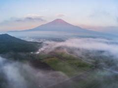 ドローン空撮赤富士