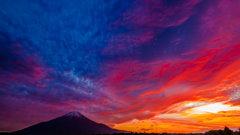 「夕焼け富士」