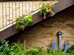 神戸ハーバーランドの中庭