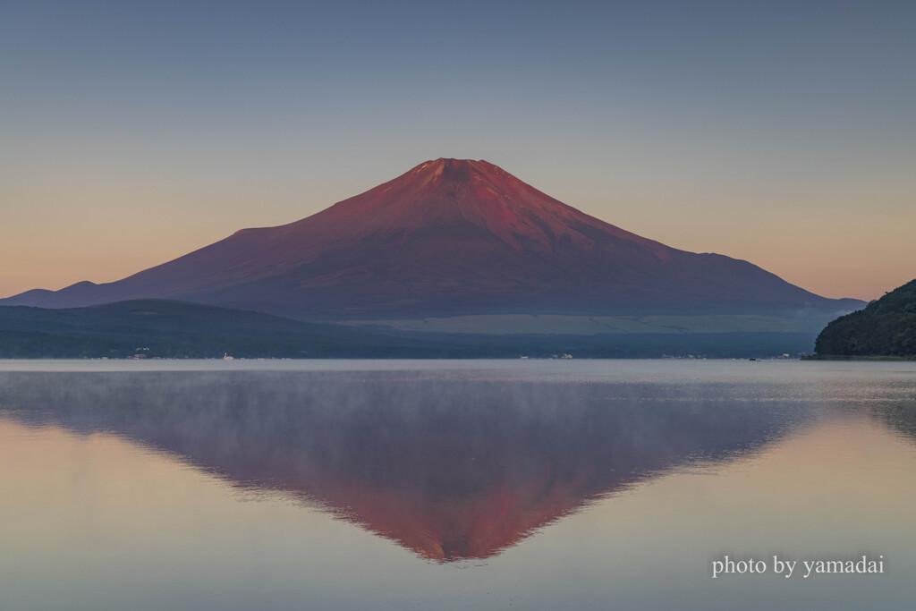 今朝の山中湖