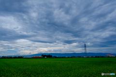 台風前の空