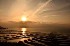 光輝く干潟海岸