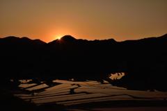里山の夜明け