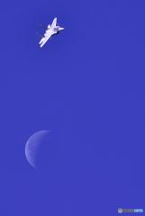 月とコラボのF‐15