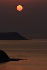 駄竹湾の夕日