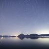 新月の洞爺湖