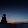 朝焼けの美しの塔