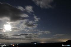 月光とオリオン
