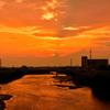 Osaka sunset 大和の流れ