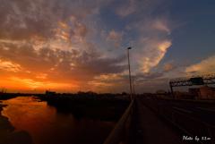 Osaka sunset 我が街の夕景