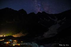 星降る夜と穂高岳