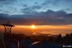 六甲山から初日の出