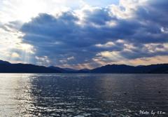 阿蘇海と丹後半島の光芒