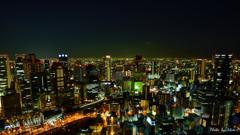 大阪夜景 空中庭園から南を望む