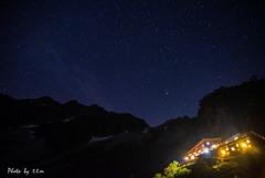涸沢小屋の夜