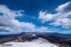 南アルプス八ヶ岳を望む