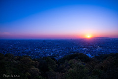 OSAKA sunset_blue