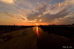 OSAKA Sunset 夏の夕暮れ