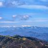 アルプスの山々を望む