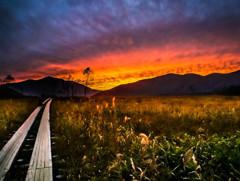 尾瀬ヶ原/竜宮から見るマジックアワーの夕景