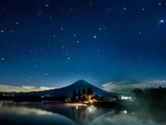 冬の夜明け前の田貫湖