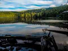 北八ヶ岳/白駒池の夕景