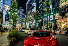 渋谷公園通りの夜景