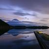 日の出前、田貫湖